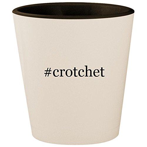 #crotchet - Hashtag White Outer & Black Inner Ceramic 1.5oz Shot Glass ()