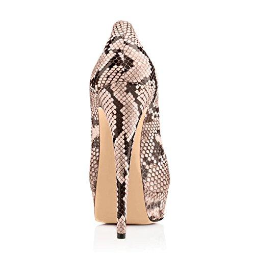 Stiletto Aurlandssko Toe Ekstreme slange Håndlaget Kjole Bryllupsfesten Onlymaker High Kvinners Peep 1 Pumper Fashion For CTxp4qPw