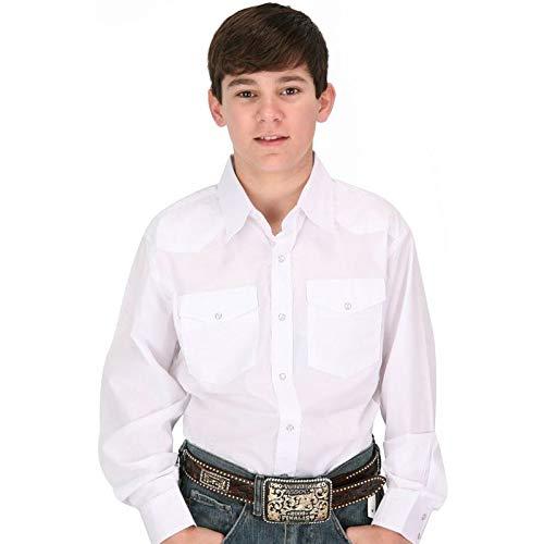 Wrangler Boys' Long Sleeve Dress Western Solid