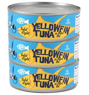 Trader Joe's Solid Light Yellowfin Tuna Fish in Olive Oil - Pack of 3 (Genova Tuna)