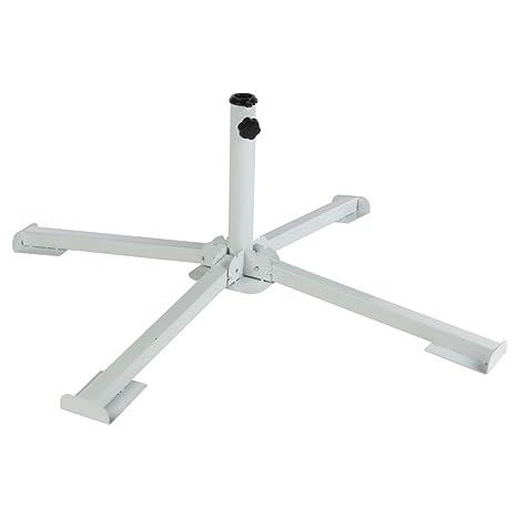 Aktive - Pie 4 patas plegable para sombrilla - 84x84x27,5 cm (ColorBaby 53762)