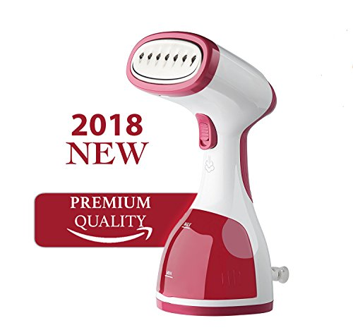 Portable Garment Clothes Steamer for Removing Stubborn Wrinkles - 260ml Travel Size HandHeld Garments Steamers with High Capacity for Better Ironing at Home and Traveling - Best Fabric Steam by Kazoo
