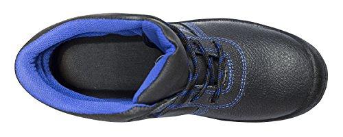 KERMEN - Calzado de seguridad S3 SRC Bota baja ligera Zapatos de trabajo Antideslizante Botines de protección también como zapato Leon-negro