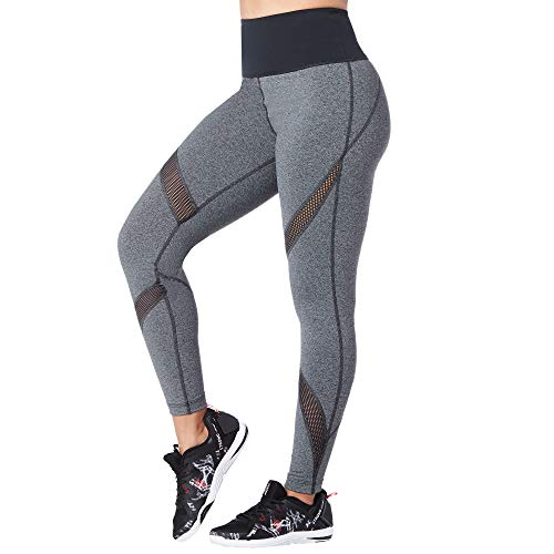 STRONG by Zumba High Waisted Ankle Length Compression Workout Leggings for Women, Outerspace, XL