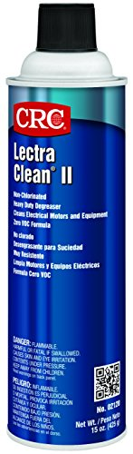 (CRC Lectra Clean II Non-Chlorinated Heavy Duty Liquid Degreaser, 15 oz Aerosol Can, Clear)