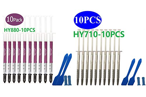 HY-710-10pcs Thermal Conductivity: >3.14W/m-k Thermal Paste, Carbon Based High Performance, Heatsink Paste, Thermal Compound CPU for All Coolers, Thermal Interface Material - 10 Grams