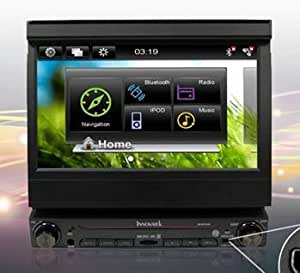 "Innovatek IN-W7GPS In-Dash 7"" Digital Flip out Touch Screen Single Din WiFi 3G CAR Radio GPS Multimedia Player with Bluetooth, frontal USB, SD and 3.5mm AUX inputs. Comes with 8GB Micro SD and USB internet adapter."