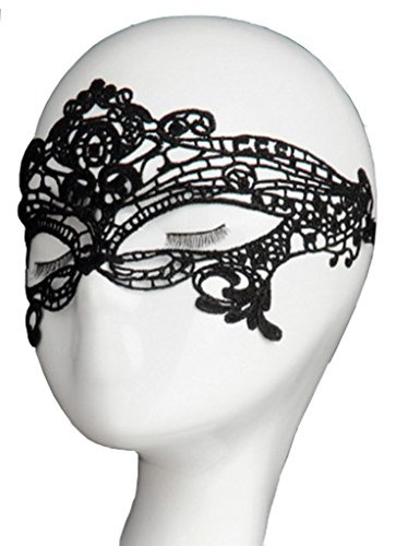 Sexy Halloween Eyes (Ys&Ts Women Girl Sexy Lace Eyemask Eye Mask for Halloween Masquerade Party Black)