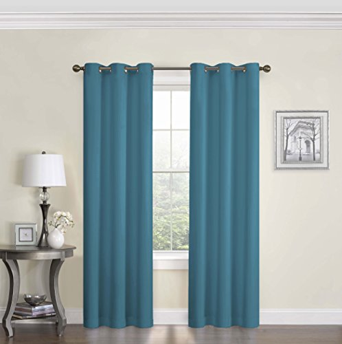 Eclipse 10708042X084PCK Microfiber 42-Inch by 84-Inch Thermaback Grommet Blackout Single Window Panel, ()