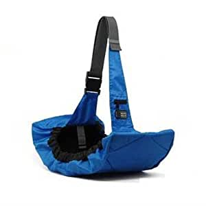 Outward Hound Kyjen  21010 Pooch Pouch Sling Carrier For Dogs Easy-Fit Adjustable Dog Carrier, Blue