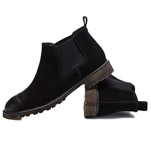 E E Classico Matrimonio Chelsea Chelsea Chelsea Uomo Boots Chelsea Stivali Inverno Nero da Black Pelle Sicurezza Autunno Retro Uomo Brogue qw1xF01zT