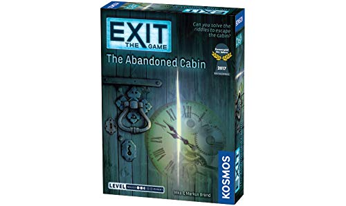 Exit: The Abandoned Cabin | Exit: The Game - A Kosmos Game | Kennerspiel Des Jahres Winner | Family-Friendly, Card-Based at-Home Escape Room Experience for 1 to 4 Players, Ages 12+