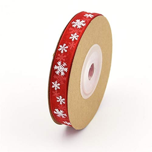 Tull - 10 2 Meters Kerst Lint Organza Christmas Ribbon Snowflake Handmade Diy Gift Wrapping Decoration - Rectangular Black Party Eifel Ivory Tablecloth Jacket Bows Room Underskirt Craft Blue Hig