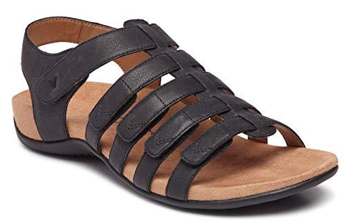 Sandals Wear Gladiator - Vionic Women's Rest Harissa Backstrap Fisherman Walking Sandals - Adjustable Gladiator Sandal with Concealed Orthotic Arch Support 6.5 W US Black