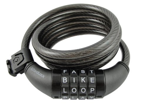 Wordlock-CL-411-BK-4-Letter-Combination-Bike-Lock-Cable-Black-5-Feet