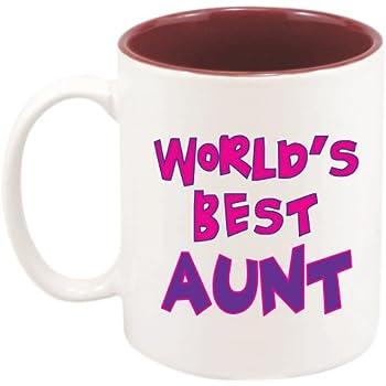 Amazon.com: Best Aunt Mug - 11 oz. with Gift Box by Custom