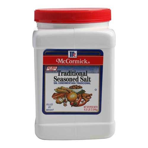 McCormick Traditional Seasoned Salt - 4.5 lb. container, 2 per case