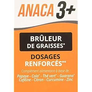 Anaca3+ – Brûleur de Graisses – 3 Actions – Dosages Renforcés* – Complément Alimentaire – Programme 30 jours – 120…