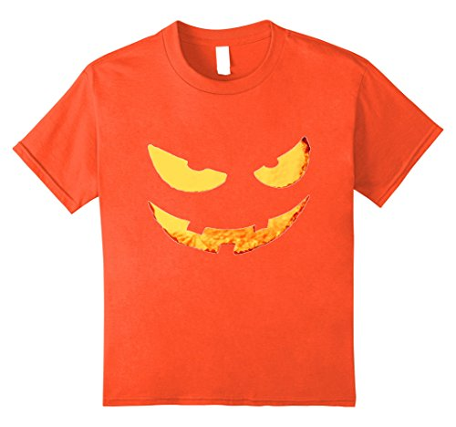 Kids Scary Face Pumpkin Smiling Scariest Costume Ever 10 Orange (Scariest Girl Costumes)