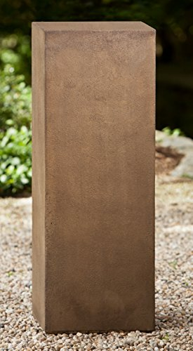 Campania International PD-154-EM Square Pedestal, Tall, English Moss - Em Square