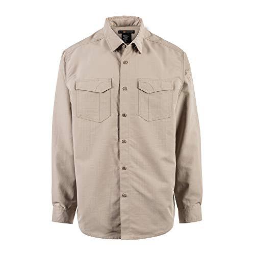 5.11 Camisa de manga larga Tactical Fast-Tac, caqui, pequeña