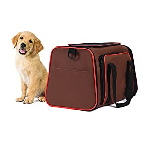 Blu & Merle Easy Carry Soft Sided Airline Approved Pet Carrier Bag Medium Sized Dogs and Cats
