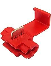 Scotch Lock - Conectores de cable de empalme rápido para terminales de empalme eléctricos, color rojo, paquete de 100