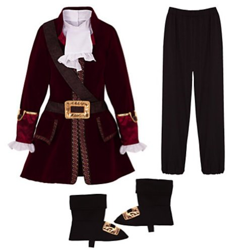 [Disney Store Captain Hook Halloween Costume Kids Size XXS 3 3T] (Captain Hook Costumes Disney)