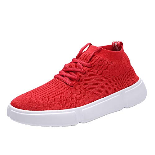 250d33af160f2 Wrezatro Mens Comfortable Breathable Sport Volleyball Shoes Light Jogging  Sneakers Athletic Gym Running Shoe for Men 1558Red42