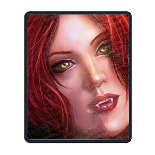 Personalized Mouse Pad - Fantasy Vampire Horror Creepy Spooky Scary Halloween Fangs Face Customized Mousepad - Gaming, Office, Mousepad.
