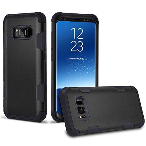 Sagmoc Sagmoc Galaxy S8 Plus Case, Three Layer [PC+TPU+PC] Rugged Drop Resistance Shock Absorption All-Round Protective Case for Samsung Galaxy S8+ (2017) – Black