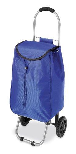 Whitmor Rolling Bag Cart Blue]()