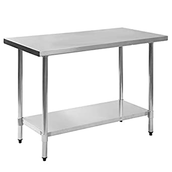 Amazoncom Galvanized Leg X X Stainless Steel Work - 36 x 48 stainless steel table