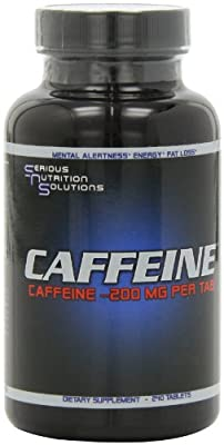 Serious Nutrition Solution Caffeine Tablets, 200mg, 240-Count from Serious Nutrition Solution