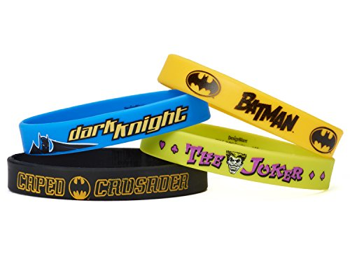 American Greetings, Batman, Rubber Bracelets, 4-Count -
