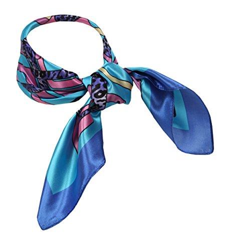 Love Lakeside-Women's Silk Blend Neckerchief Print Square Scarf Geometric - Scarf Geometric Silk Print