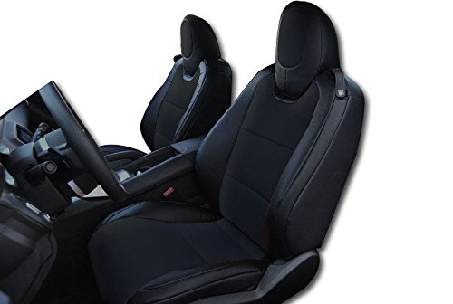 2010-2015 Chevy Camaro Black Artificial leather Custom fit Front seat - Front Cover Camaro