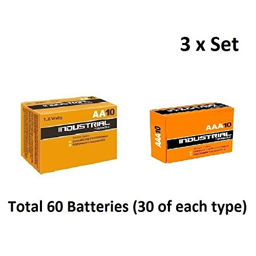 30 x AA & AAA Duracell Industrial Alkaline 1.5v Multi Batteries for -
