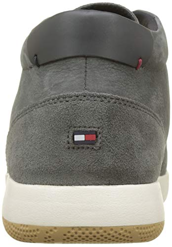 Baskets Tommy Boot Homme Hautes Charcoal Nubuck Hilfiger Lace Up 022 Gris Light XXrq1Y