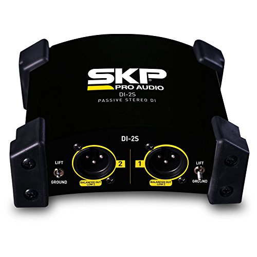 SKP PRO AUDIO DI-2S Passive Stereo Direct Box by SKP Pro Audio