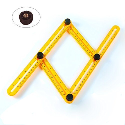 Multi Angle Folding Ruler-Best Adjustable Angle Measuring template Tool for Handymen, Builders, Craftsmen and DIY-ers