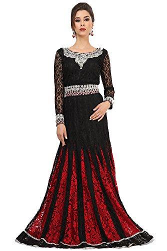 Palas Fashion Women's Wedding Kaftan Maxi Dress Black US Size: 14