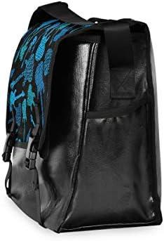 メッセンジャーバッグ メンズ ギター柄 ブルー 斜めがけ 肩掛け カバン 大きめ キャンバス アウトドア 大容量 軽い おしゃれ