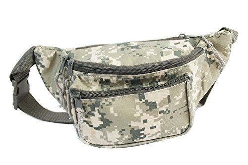 Xtitix Military Tan Digital Camouflage 3 zipper pocket Fanny pack Waist Bag Camo by Xtitix