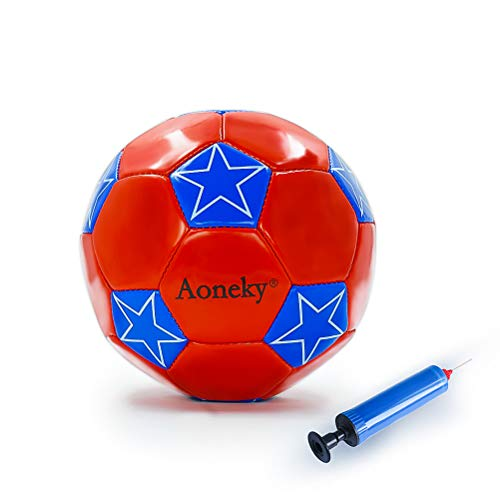 Aoneky Mini Size 2 Soccer Toys for Kids Aged 1 - 3 Years Old (Star, ()