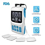 ROOVJOY TENS Unit EMS Muscle Stimulator Pulse Massager 3 in 1 Combo FDA Cleared OTC Programmable Dual Channels 36 Modes with 12 Tens Electrodes Tens Machine for Back Shoulder Elbow Pain Relief
