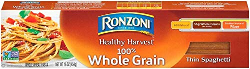 Ronzoni Healthy Harvest All Natural 100% Whole Grain Thin Spaghetti (3 Boxes 16 Ounces Each)