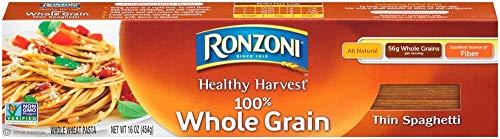 - Ronzoni Healthy Harvest All Natural 100% Whole Grain Thin Spaghetti (3 Boxes 16 Ounces Each)