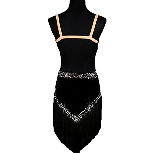 Profesional De Borla Negro Imitación Para Baile Vestidos Rendimiento Terciopelo Con Competencia Vestido Diamantes Mujeres Latino Moliyanzi Ropa Aprovechar HTvPqWTct