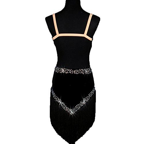 Profesional Para Diamantes Con Rendimiento Borla Terciopelo Vestidos Baile Imitación Mujeres Vestido De Aprovechar Moliyanzi Negro Ropa Latino Competencia YZqPH66